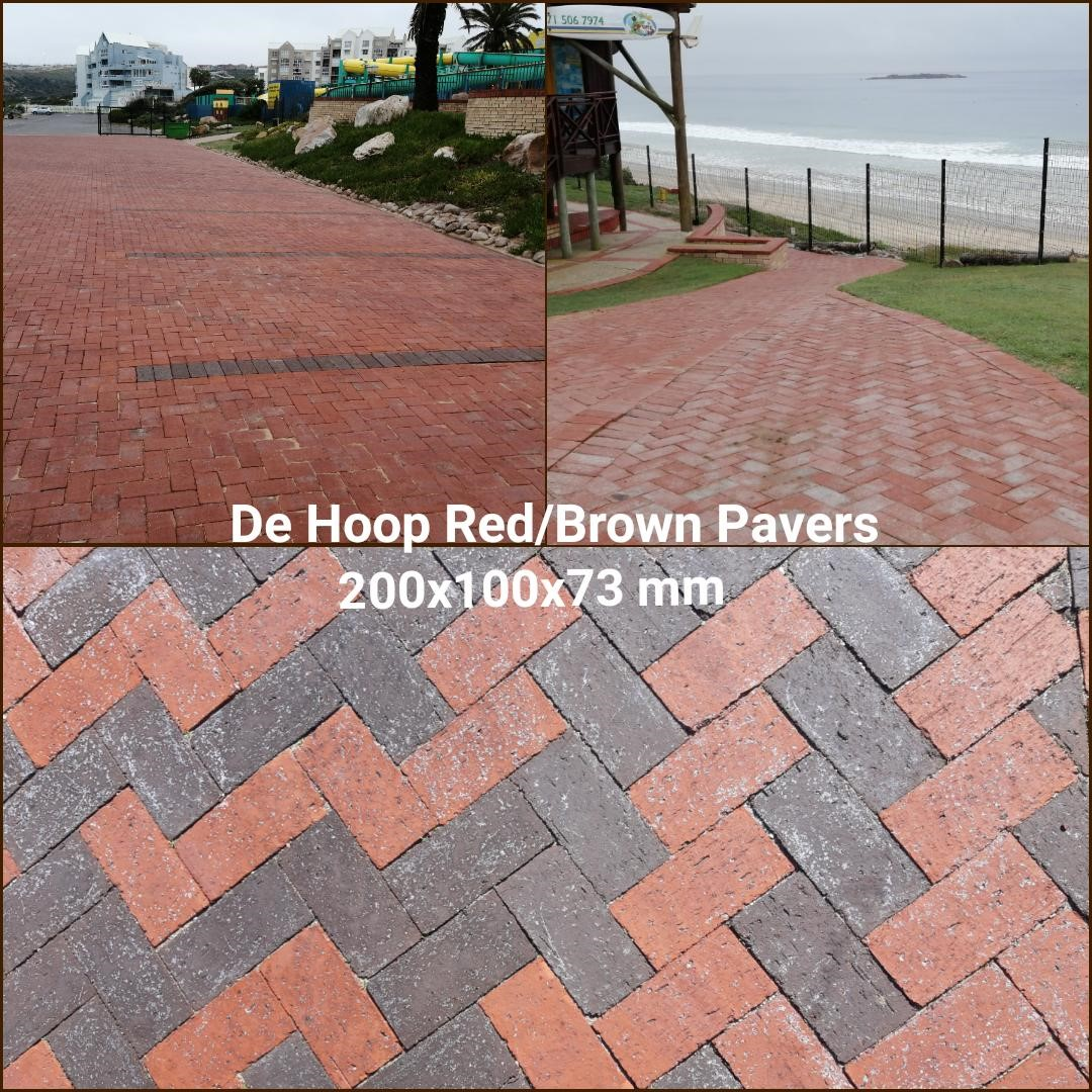 de-hoop-Red-Brown-pavers-200x100x73mm